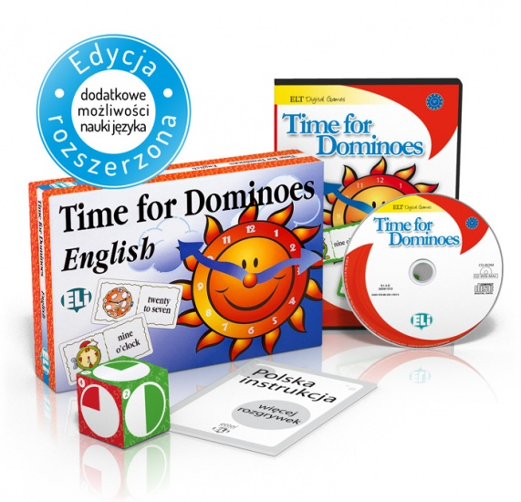 Language Game Time for Dominoes - Game Box + CD-ROM