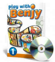 Play with Benjy 1 Book + English cartoons and activities on DVD