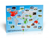 English Speaking Countries Map - Poster