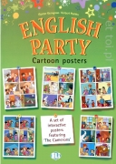 English Party 4 Cartoon Posters