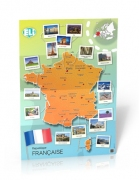 Carte de France - Poster - Carte de France - Poster (République Française) A civilisation poster that's new and unique, suitable for classes at various levels. The large and full-colour photographies differentiate Carte de France - Poster from the traditional text on culture and make it the ideal interactive learning tool. Dimensions: 67,6x98cm ISBN 9788393511662 ELI & ET TOI 2014